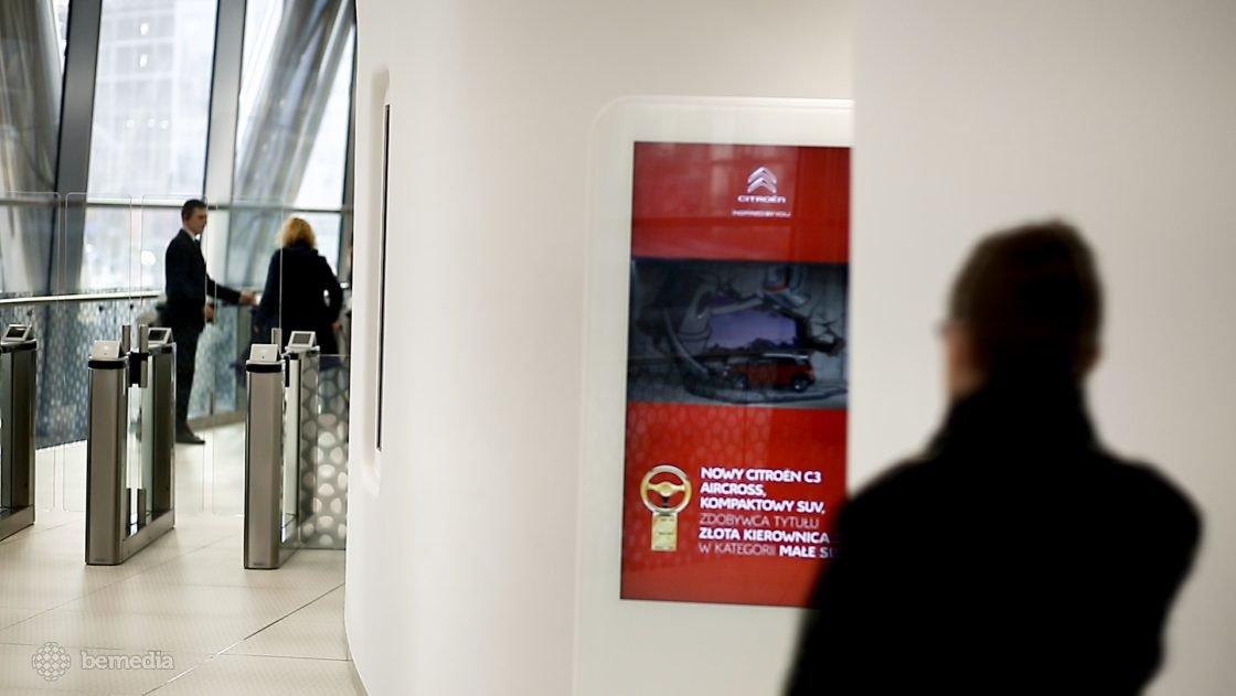 reklama Citroen w Warsaw Spire