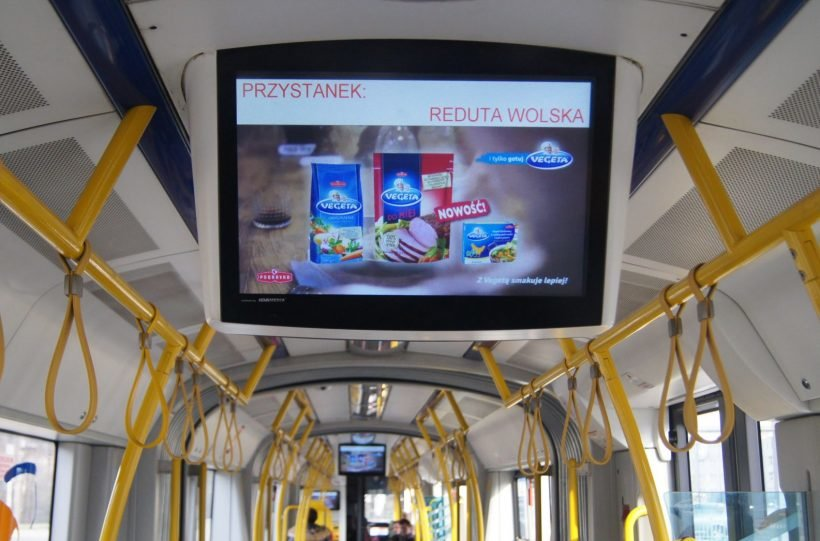 Debiut reklamowy – Vegeta na ekranach LCD w tramwajach