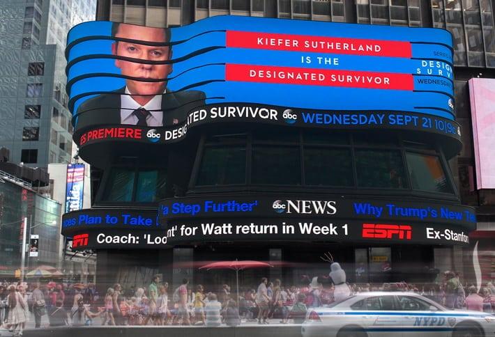 Cyfrowe osobliwości z nowojorskiego Times Square